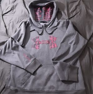 Under Armour Girls Pink and Grey Hoodie